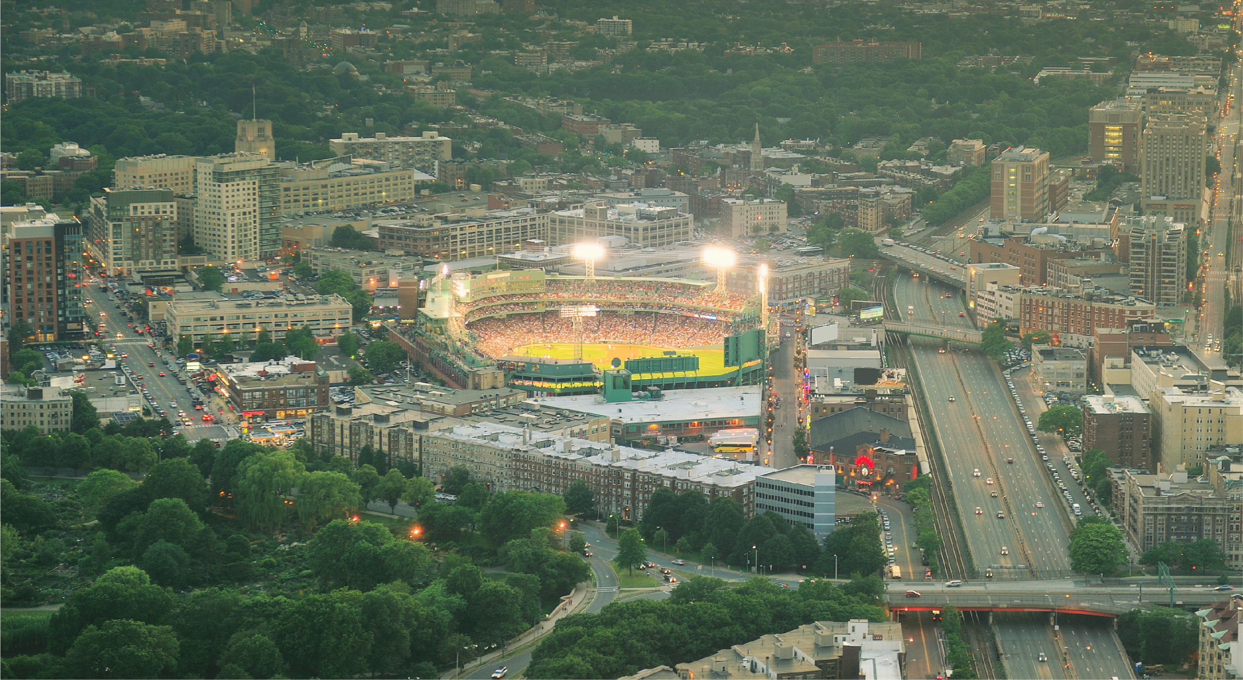 visiting fenway park aerial view