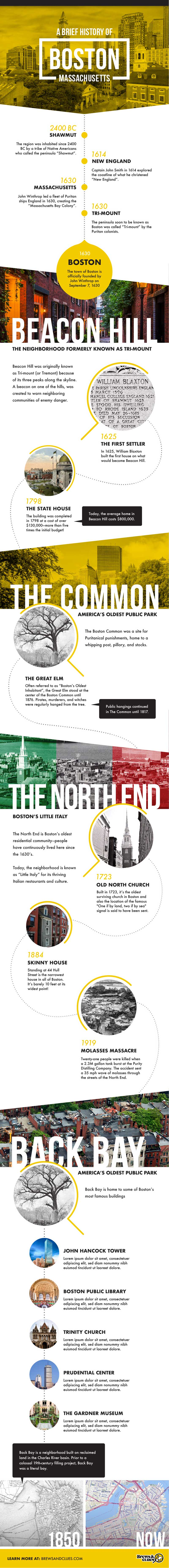a brief history of boston infographic